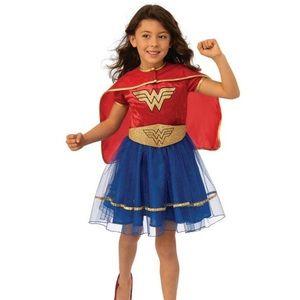 Wonder Woman DC Girls Dress Halloween Costume New